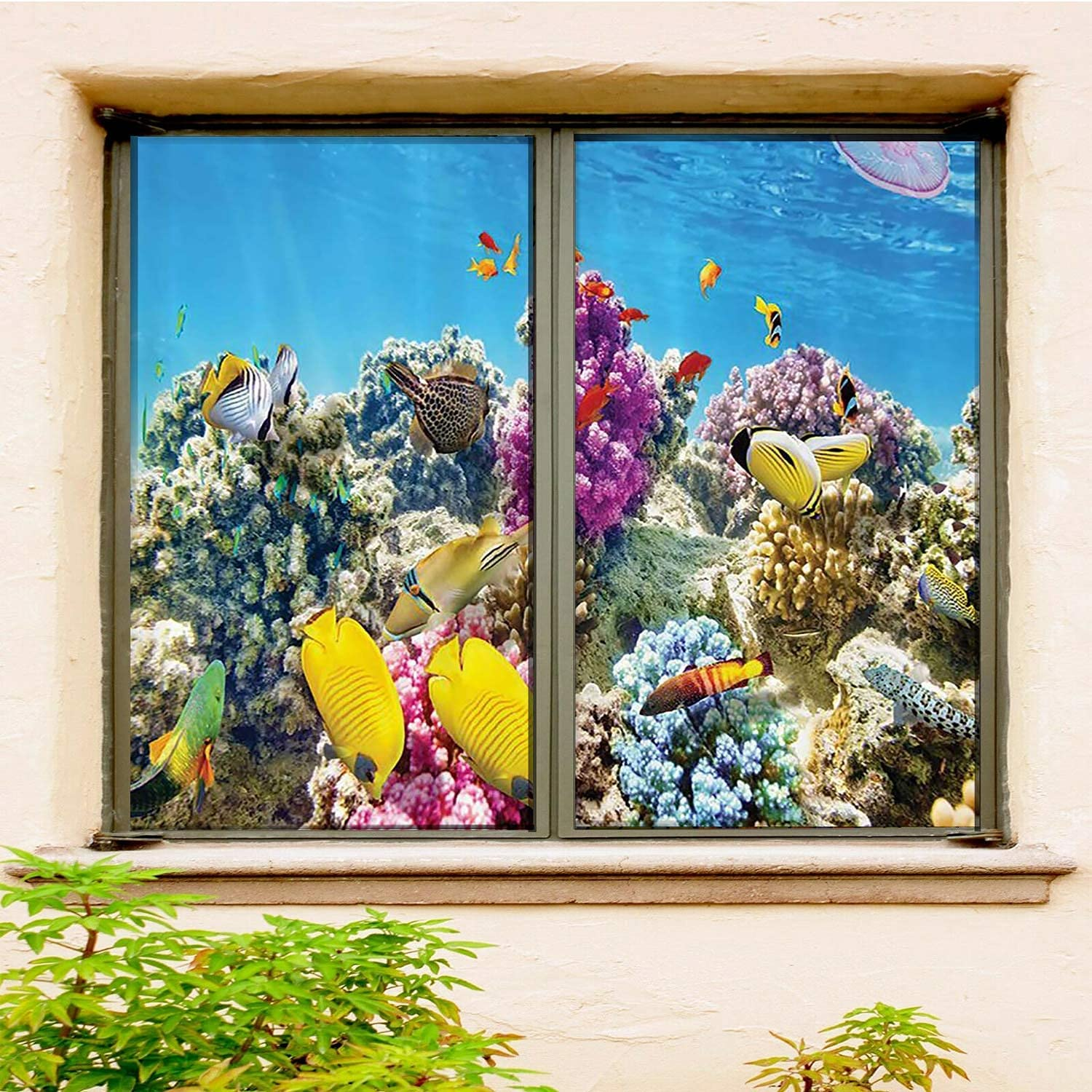 Ocean Decor Collection Static Factory outlet Cling Film 2 PCS New color Set Window
