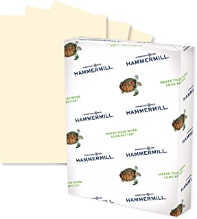 Hammermill Ivory Colored 24lb Copy Paper, 8.5x11, 1 Ream, 500 Total Sheets, Made in USA, Sustainably Sourced from American...