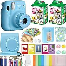 Fujifilm Instax Mini 11 Instant Camera Sky Blue Compatible Carrying Case + Fuji Instax Film Value Pack (40 Sheets) Accesso...