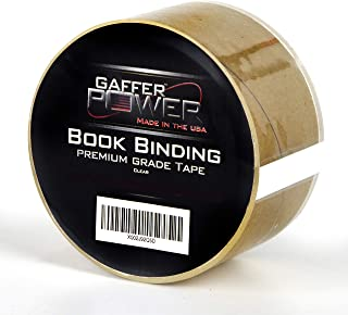 "Bookbinding Tape by Gaffer Power, Clear Book Repair Tape Safe Library Book Hinging Repair Tape, Made in The USA, Acid Free and Archival Safe - 2"" X 15 Yards"