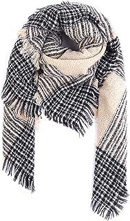 アイボレオ(Aibrou)マフラー 大判 ストール レディース スカーフ 肩掛け チェック柄 カシミヤライク 裏起毛 厚手 暖かい 肌触り良い 秋冬 プレゼント