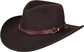 Durable Litefelt Wool Western Firehole Hat, Beaver, M