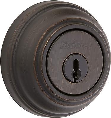 Kwikset 985 Double Cylinder Deadbolt featuring SmartKey in Venetian Bronze