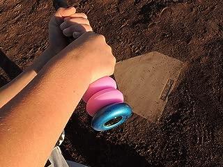 Bat Grip Choke up Rings 2-Pack for Youth Baseball, Softball and Tee Ball (Pink)