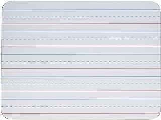 Charles Leonard Magnetic Dry Erase Boards, 2 Sided, Plain/Lined, White, 1 Each (35135)