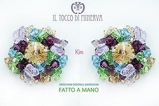Orecchini da Sposa Kim Multicolor in cristalli e swarovski - Realizzato a Mano - HandMade - regali bambina regali ragazza ...