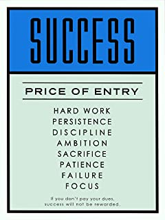 NG Monopoly Motivational Poster Print Success Price of Entry Wall Art Decor Office