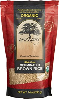 truRoots Organic Germinated Brown Rice, 14-Ounce Pouches (Pack of 6)