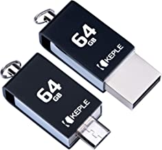 64GB USB Stick OTG to Micro USB 2 in 1 Pen Flash Drive Memory Stick 2.0 Compatible with Samsung Galaxy Tab S, S 8.4, S 10.5, S2 8.0, S2 9.7, A 7.0, A 8.0, A 9.7, A 10.1   64 GB Thumb Drive Dual Port