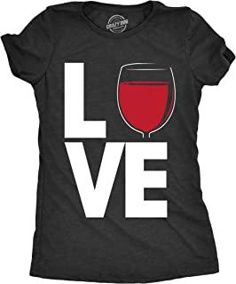 Womens Love Wine Tshirt Funny Drinking Tee for Ladies