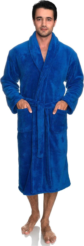 TowelSelections Men's Super Soft Plush Bathrobe Fleece Spa Robe