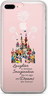 SmartGiftShop Cartoon Character Disney Fan Art Clear TPU Phone Cover Case for iPhone & Samsung iPhone 5/5s / Disney Castle Quote