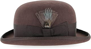 Belfry Bowler Derby 100% Pure Wool Theater Quality Hat in Black Brown Grey Navy Pearl Green