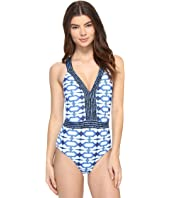 MICHAEL Michael Kors - Summer Breeze Cross Back One-Piece