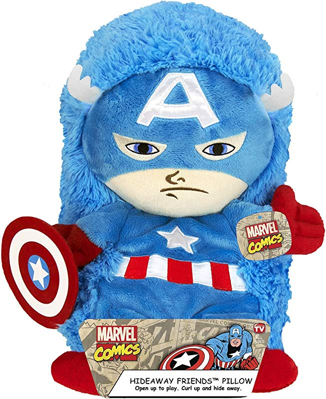 Disney Marvel JFE22405WCD Marvel 14 Pet Captain America Plush Hideaway Character Pillow 12