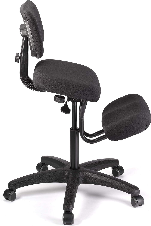Classic Genoux Chaise, noir, 68x 48x 18cm Noir - Noir