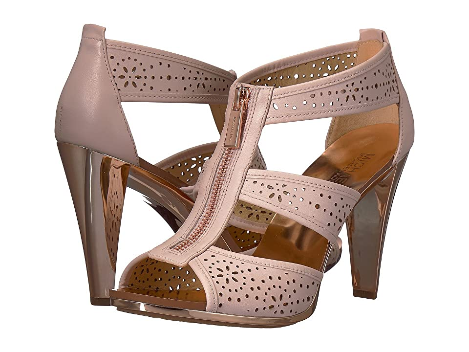 MICHAEL Michael Kors Berkley T Strap (Soft Pink Vachetta Hazel Perf) Women