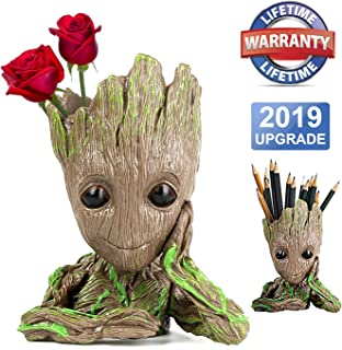 Groot Planter Pot Groot Flower Pot Baby Groot Flower Pot Desk Decor Gift Ideas Desk Plant Groot Planter Pen Holder Office Gifts Succulent Plant Pot Succulent Pots Desk Supplies Cute Office Supplies