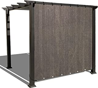 Alion Home Sun Shade Privacy Panel with Grommets on 2 Sides for Patio, Awning, Window, Pergola or Gazebo - Mocha Brown (10' x 12')