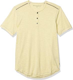 John Varvatos Star USA Men`s Ryman Short Sleeve Disperse Dye Slub Henley