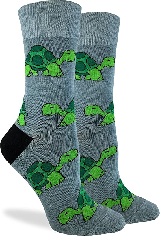 Good Luck Sock Women's Turtle Socks - Green, Adult Shoe Size 5-9