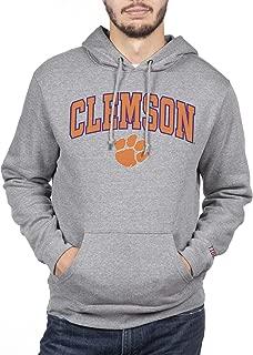 NCAA Mens Hoodie Sweatshirt Gray Applique Arch