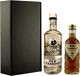 Geschenkidee Pan Tadeusz | Polnischer Wodka | 1 x 0,7 Liter, 1 x 0,5 Liter