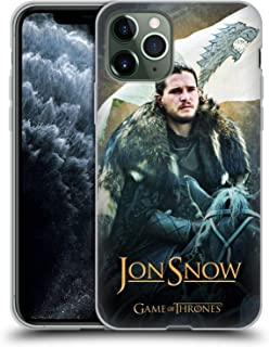 Official HBO Game of Thrones Jon Snow Horse Battle of The Bastards Soft Gel Case Compatible for iPhone 11 Pro