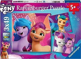 Ravensburger Barnpussel 05236 05236-My Little Ponny Movie-3 x 49 bitar pussel för barn från 5 år