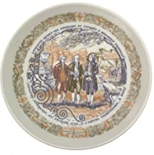 Limoges Lafayette remits messages from congress to Benjamin Franklin Lafayette Legacy Collection plate - CP1355