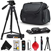 "Premium Well Padded Camera CASE / BAG and Full Size 60"" inch TRIPOD Accessories KIT for Fujifilm FINEPIX HS50EXR SL1000 HS35EXR XP70 F800EXR SL300 SL240 F770EXR F600EXR F750EXR HS30EX F600 HS20EXR F500EXR F550EXR S9900W S9800 S9400W S9200 S8600 S8500 S8400W S8300 S8200 S6900 S6800 S6700 S4800 S4700 S4600 S4500 S4400 S4300 S2950 FUJIFILM XP80 XP70 X100T X100S X100 XT10 XT1 XA2 XA1 XQ2 XQ1 XE2 XE1 XPro1 X30 X20 X10 XM1 XF1 X-S1 Digital Cameras"