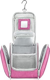 Bolsa de Aseo para Colgar Hombres y Mujeres | Neceser cosmético Hombre Grande Mujer para Maletas y Equipaje de Mano | Neceser de Viaje, Color:Rosa