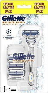 Gillette Skinguard Sensitive Men's Razor Blades Refills+ Handle