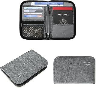 BAGSMART Travel RFID Blocking Wallet Passport Holder Cover Document Organizer for Men and Women