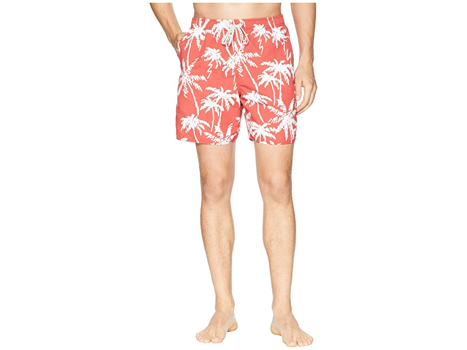 Quiksilver Waterman Palm Tree Volley Swim Shorts (Mineral Red) Men