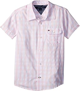 Tommy Hilfiger Kids - Short Sleeve Ryan Yarn-Dye Plaid Shirt (Big Kids)