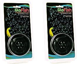 (2 Pack) GloFish Round LED Bubbler with 6 Blue LEDS Each