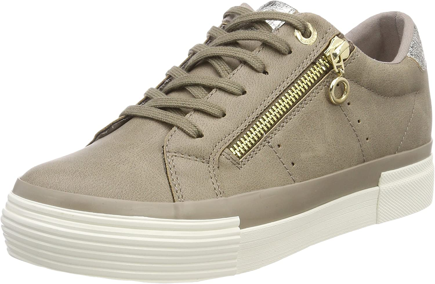 S.Oliver Women's 23634 Low-Top Sneakers, Brown (Pepper), 6 UK