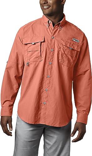 Columbia Hommes's Bahama II manche longue Shirt, Bright Peach, Medium