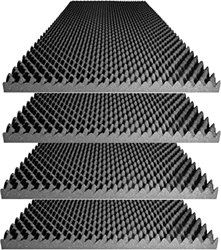 "lowest Foamily Acoustic Foam Egg Crate Panel Studio Foam Wall discount Panel discount 48"" X 24"" X 2.5"" (4 Pack) online"