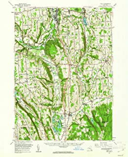 YellowMaps Tully NY topo map, 1:62500 Scale, 15 X 15 Minute, Historical, 1955, Updated 1961, 20.7 x 16.9 in