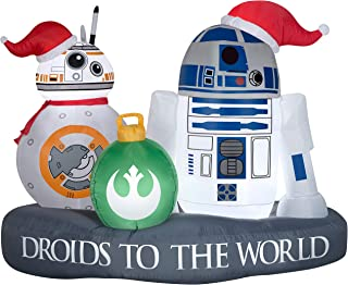 Starwars Gemmy Christmas Inflatable 5' R2-D2 and BB-8