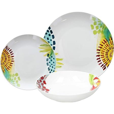Tognana ME070185583 Service de table 18 pièces Mali Porcelaine