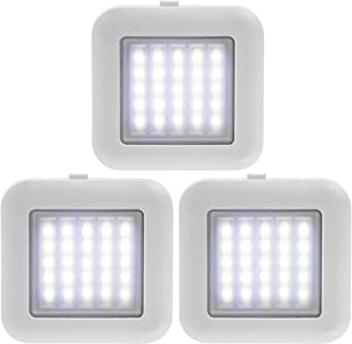 SHARPER IMAGE Magnetized Adhesive Dimmer LED Lights 3 Pack for Home and Studios, Emergency and Survival Kits, Camping Lights, Indoor and Outdoor Flashlight, Roadside Assistance, Storms, Power Outage