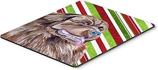 Caroline's Treasures Newfoundland Candy Cane Holiday Christmas Mouse Pad/Hot Pad/Trivet (LH9219MP)