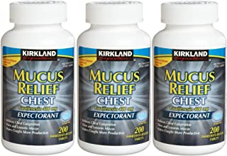 Kirkland Signature Mucus Relief Chest Guaifenesin 400 mg Expectorant - 200 tablets, 3 pack
