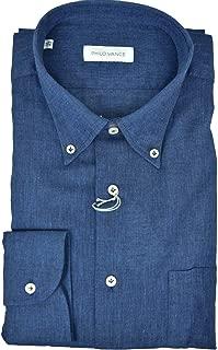 Eterna Slim Fit Camicia manica lunga con Button-Down Colletto Rosso Blu Bianco A Quadri