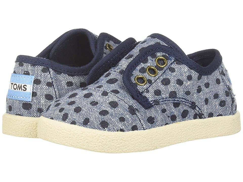 TOMS Kids Paseo (Infant/Toddler/Little Kid) (Cornflower Slub/Chambray Torn Dots) Girl