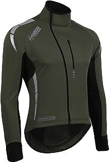 Mens Team Thermal Cycling Jacket Bike Road Jersey Fleece MTB Windproof Soft Coat