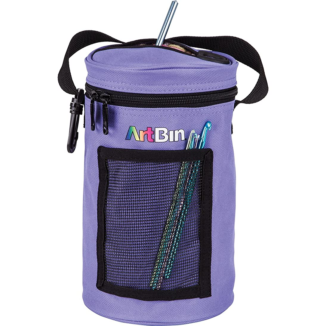 ArtBin Mini Yarn Drum Knitting and Crochet Tote Bag, Periwinkle 6832AG,